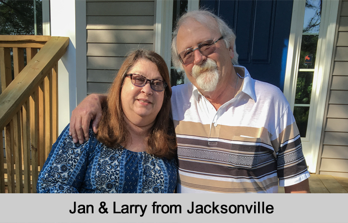 Jan and Larry from Jacksonville.