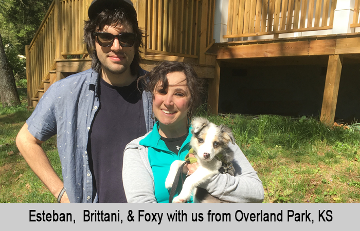 Esteban, Brittani and Foxy with us from Overland Park, Kansas