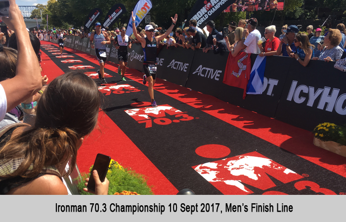 Half Ironman 2017 Chattanooga Finish Line