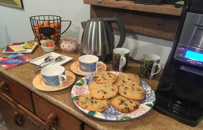 Cookies, Coffee, and Tea  at St Francis Cottage