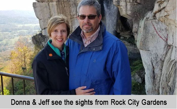 Donna and Jeff see the sights from Rock city Gardens