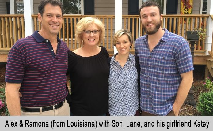 Alex and Ramona, from Louisiana, with Son, Lane and his girlfriend, Katey.