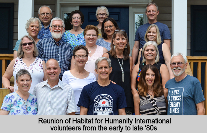 Reunion of Habitat for Humanity International volunteers from the early to late '80's