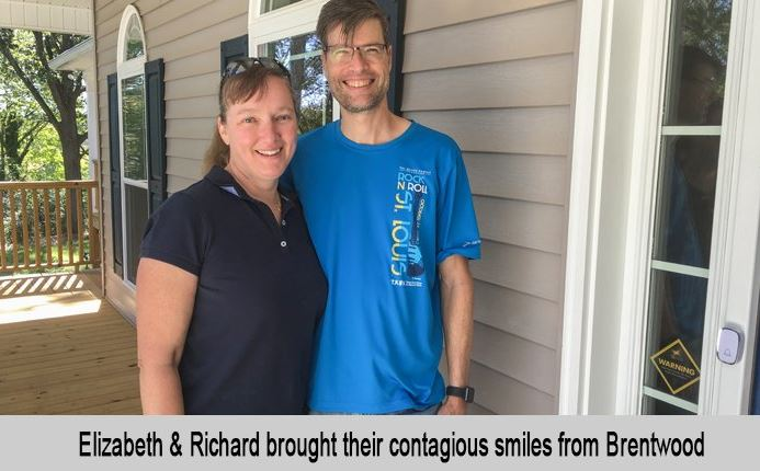 Elizabeth and Richard brought their contagious smiles from Brentwood.