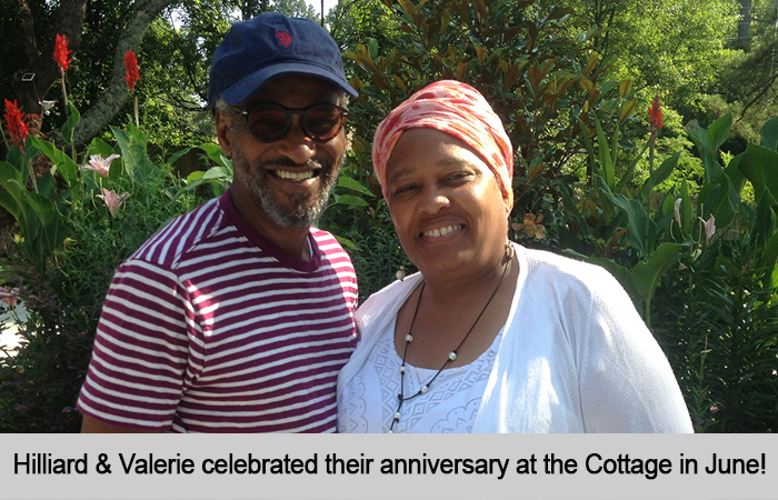 Hilliard and Valerie celebrated their anniversary at the Cottage in June