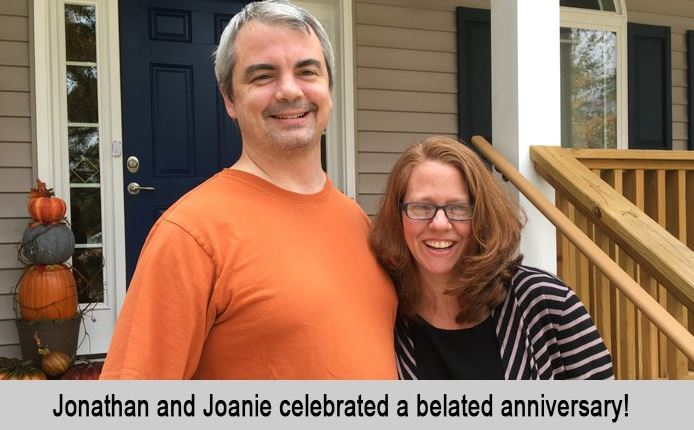 Jonathan and Joanie celebrated a belated anniversary.