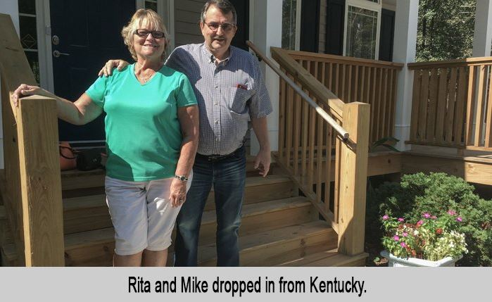 Rita and Mike dropped in from Kentucky.
