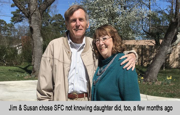 Jim and Susan chose St Francis Cottage not knowing that their daughter did too, a few months before.