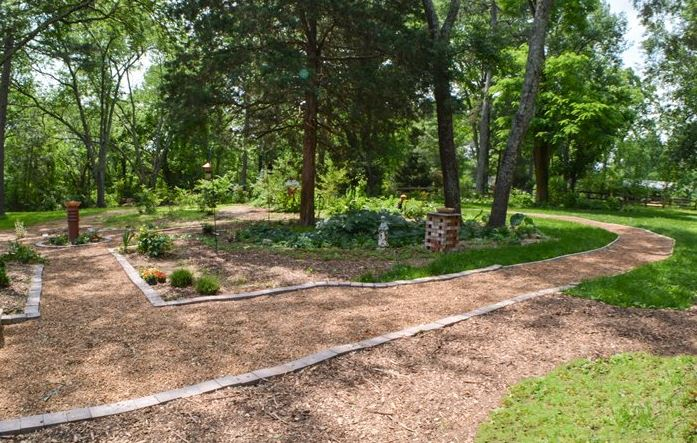 Event and garden walkway at St Francis Cottage