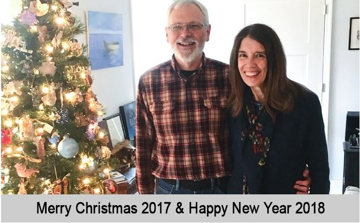 Wallace and Nancy wish you a Merry Christmas 2017 and a Happy New Year, 2018