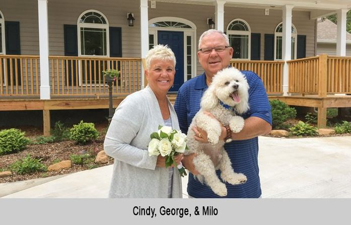 Cindy, George, and Milo from Florida