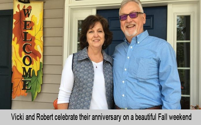 Vicki and Robert celebrate their anniversary on a beautiful Fall weekend.