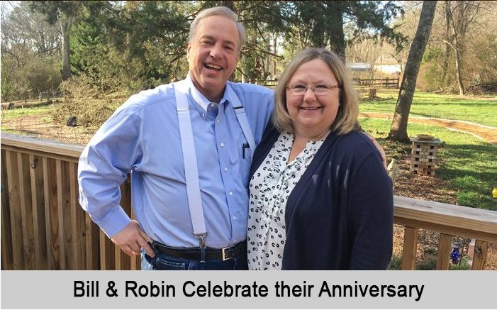 Bill and Robin celebrate their Anniversary