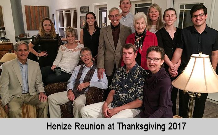Henize family reunion at Thanksgiving 2017.