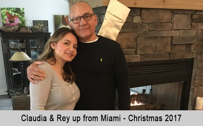 Claudia and Ray up from Miami, Christmas, 2017