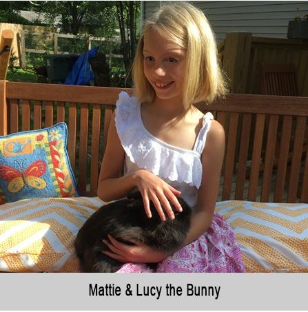 Mattie and Lucy the bunny.