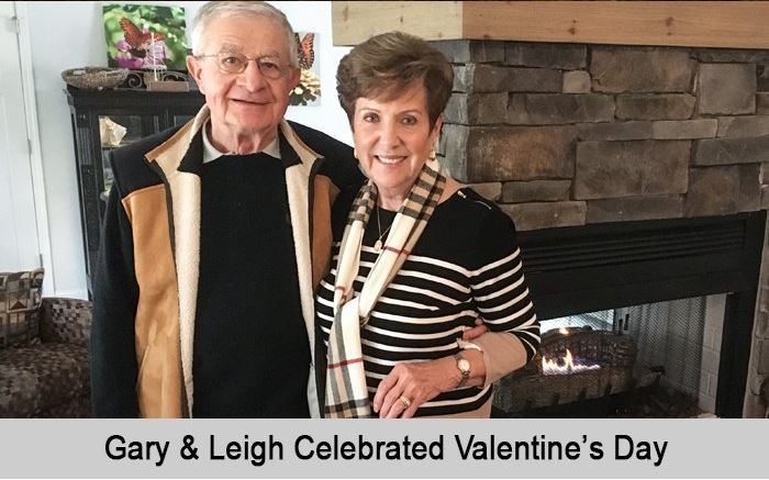 Gary and Leigh celebrated Valentine's Day.