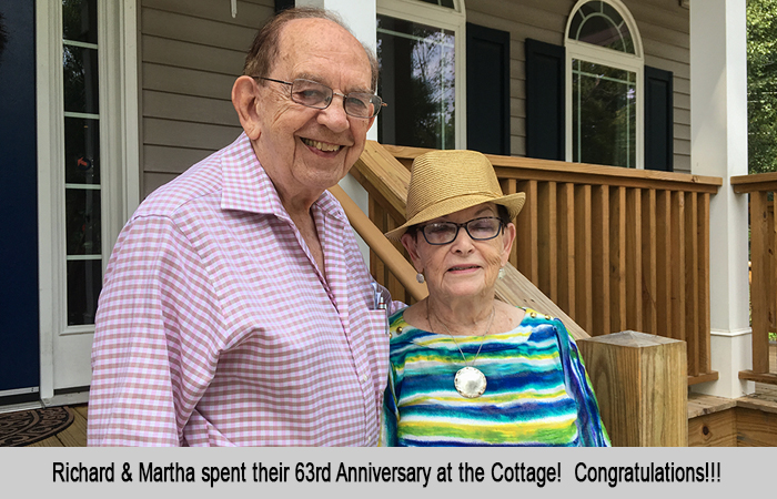 Richard and Martha 63rd Anniversary celebrated at St Francis Cottage