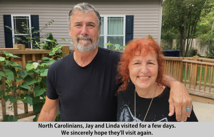 Jay and Linda visit St Francis Cottage