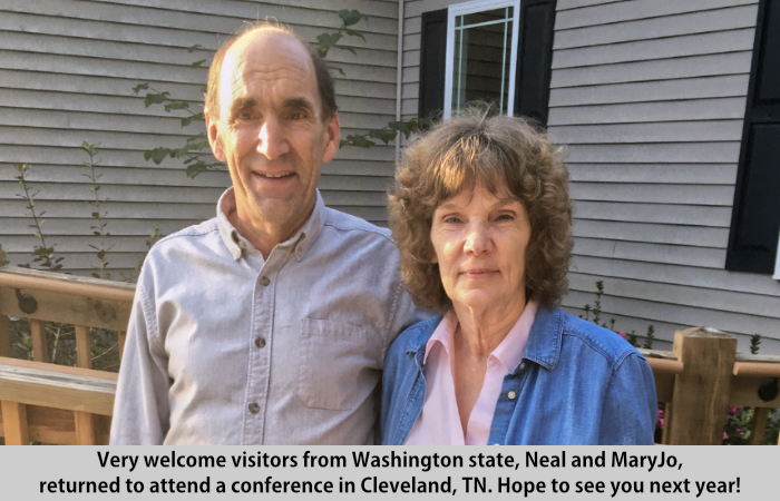 Neal and MaryJo visit St Francis Cottage