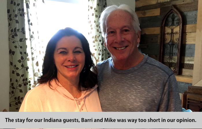 The stay for our Indian guests, Barri and Mike, was way too short, in our opinion.