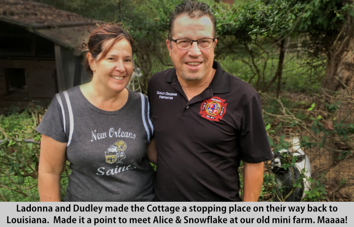 Ladonna and Dudley visit St Francis Cottage