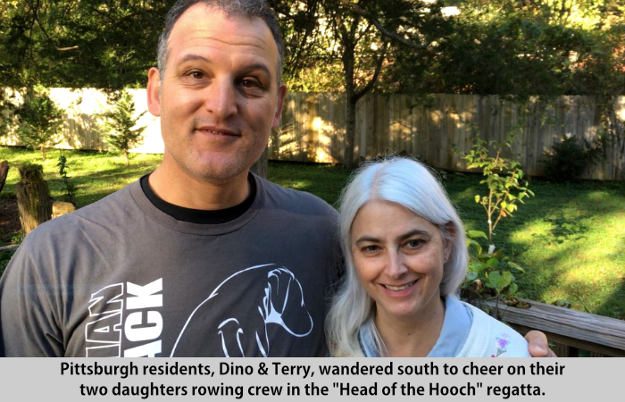Dino and Terry visit St Francis Cottage