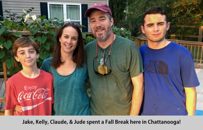 Jake, Kelly, Claude, and Jude visit St Francis Cottage